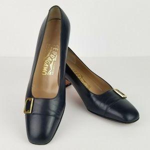 Salvatore Ferragamo  Black Leather Shoes B56RA